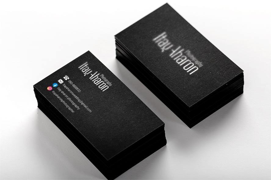 עיצוב לוגו וכרטיס ביקור לצלם