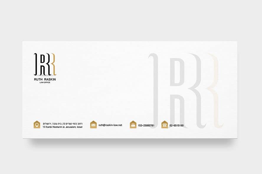 עיצוב מעטפה עורכת דין